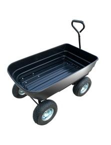 Kartrite Garden Dump Cart Dumper Wagon Carrier Wheel Barrow 75L