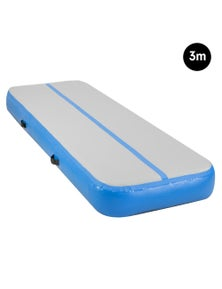 PowerTrain 3m Airtrack Tumbling Mat Gymnastics Exercise 20cm Thickness