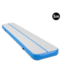 PowerTrain 5m Airtrack Tumbling Mat Gymnastics Exercise 20cm Thickness