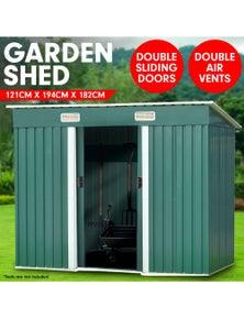 Klika Garden Shed Flat 4ft x 6ft Outdoor Storage Shelter