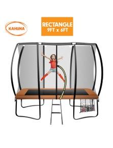 Kahuna Trampoline 6ft x 9ft Rectangular Outdoor Basketball Set