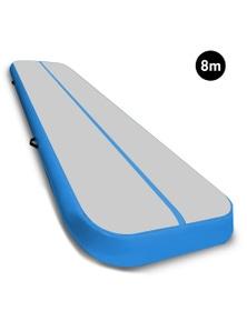 PowerTrain 8m x 1m Air Track Tumbling Gymnastics Exercise Mat