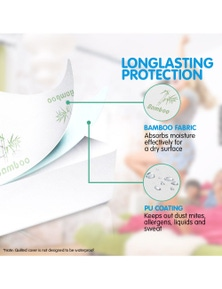 Laura Hill Bamboo Mattress Protector Double