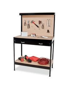 Kartrite 2-Layered Work Bench Garage Storage Table Tool Shop Shelf