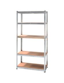 Kartrite 5 Shelf Adjustable Storage Rack Work Table Galvanized Steel