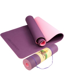 PowerTrain Eco Friendly TPE Yoga Exercise Pilates Mat