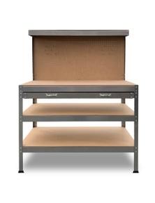 Kartrite 3-Layered Work Bench Garage Storage Table Tool Shop Shelf