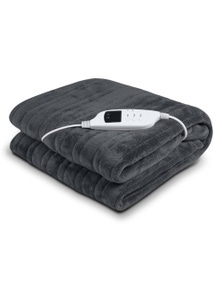 Laura Hill Heated Electric Blanket Throw Rug Coral Warm Fleece Winter