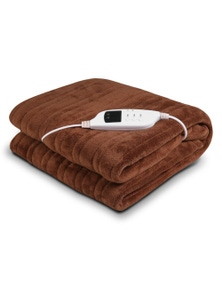 Laura Hill Heated Electric Blanket Throw Rug Coral Warm Fleece Winter