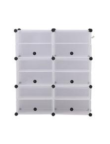 Levede 85x96x32cm 2 Column 6 Row Shoes Cabinet