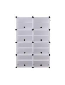 Levede 85x127x32c 2 Column 8 Row Shoes Cabinet