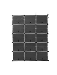 Levede 126x158x32 3 Column 10 Row Shoes Cabinet