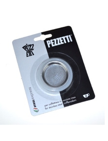 Pezzetti Silicone Ring Gasket + Filter Plate Stainless Steel Percolator - 2 Cup