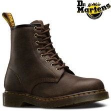 Dr. Martens 1460 8 Up Crazy Horse Leather Boots Shoes - Gaucho Brown[Size: UK 3]
