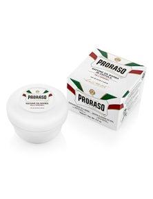 Proraso White Shaving Soap In a Bowl (Sensitive Oatmeal & Green Tea) 150ml