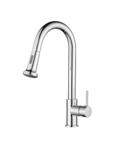 Euro Round Kitchen Sink Pull Out Mixer Faucet