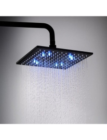 LED Square Water Saving Rainfall Shower Head