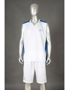 Peak Men's Florida 2pcs Basketball Set Singlet + Shorts Sports - White/Navy