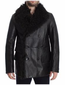 Dolce & Gabbana Black Lambskin Leather Jacket Trenchcoat