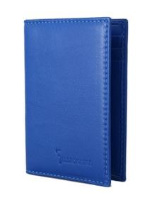 Billionaire Italian Couture Blue Leather Bifold Wallet