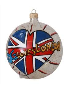 Dolce & Gabbana Glass DG LOVES LONDON Handpainted Christmas Ball