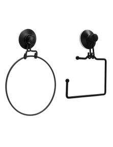 BoxSweden Wire Suction Toilet Paper HolderTowel Ring Holder