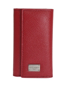 Dolce & Gabbana Red Leather Key Case Wallet
