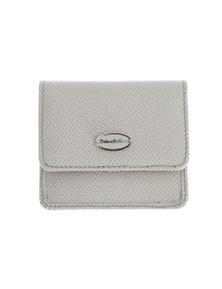 Dolce & Gabbana White Dauphine Leather Case Wallet