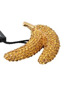 Dolce & Gabbana Banana Gold Yellow Brass Crystal Catwalk Pin Brooch