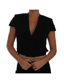 Dolce & Gabbana Black Short Croped Blazer Jacket
