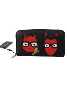 Dolce & Gabbana Black #dgfamily Evil Continental Clutch Leather Wallet