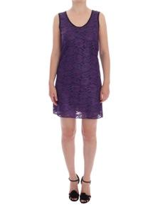Dolce & Gabbana Purple Floral Lace Short Mini Shift Dress