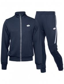 Lotto Boy's Aydex IV Suit Full Zip Jacket And Pants Deep Dry Tennis Sport - Navy
