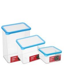 LemonLime Crisp Food Storer Containers 2.75L /2.66L /870ml 3PK