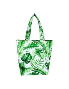 Sachi Insulated Folding Market Tote Bag Jungle Leaf