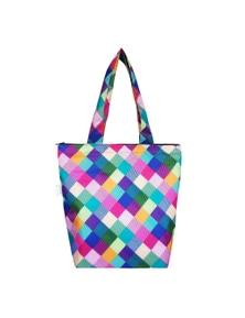 Sachi Insulated Folding Market Tote Bag Harlequin