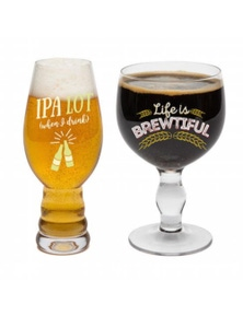 BigMouth Beer Snob Glassware Set