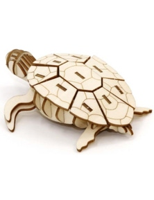 Animal Collection 3D Wood Model - Sea Turtle