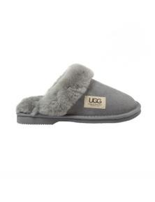 UGG Merino Sheepskin Fur Trim Scuff Memory Foam