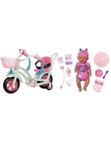 Baby Born Soft Touch Girl Doll PlayFun Bike Combo 43cm