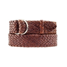 "Queenslander Kangaroo Leather Belt Hand Plaited 32mm 1 1/4"" - Handcrafted in Australia"