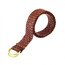 "Longreach Kangaroo Leather Belt Hand Plaited 32mm 1 1/4"" - Handcrafted in Australia"