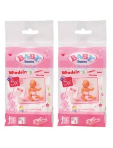 Baby Born Nappies For Baby Dolls - 2 X 5 Pack