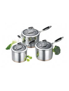 Scanpan Coppernox 3 Piece Saucepan Set
