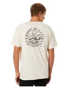Katin Men's Vintage Beachside Mens Tee Crew Neck Cotton Wool