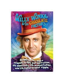 Willy Wonka Recipe Tin Sign