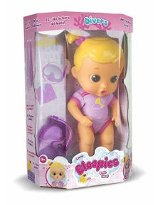 Bloopies Babies Moony Bath Time Doll Toy Childrens Kids Bath Fun