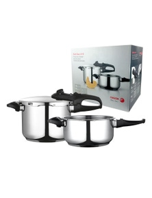 Fagor 4L & 6L Set Duo 4+6 Pressure Cooker Set- Stainless Steel 2Pc
