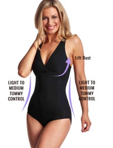 LaSculpte Women's Microfiber Seamless Bodysuit