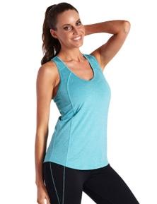 LaSculpte Women's Slim Fit Yoga Panelled Tank Top